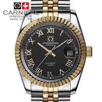 Carnival men's watch fully-automatic mechanical watch 18k gold steel strip waterproof luminous commercial male watch