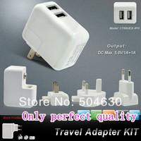 Universal 2USB Ports US/EU/British Plug Home Travel Wall AC Power Charger Adapter for Galaxy TAB/Galaxy S /iPod/ iPhone.....