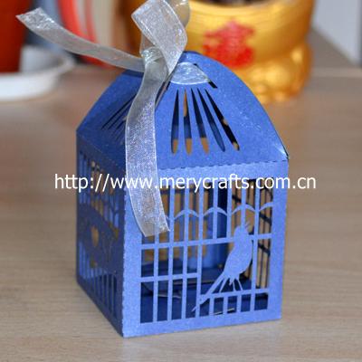 """2014 China fabricante decoração de casamento """" gaiola de pássaro """" caixa Favor do casamento com grátis fita de Mery artesanato(China (Mainland))"""