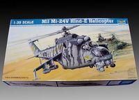 Trumpeter Aircraft Model 1/35 m-24V Hind E gunship 05103 Military simulation assembly model toys 468pcs