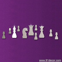 international chess wall sticker mirror sticker home decoration for gift and global free shipping !