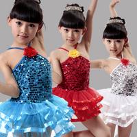 Child costume female child ballet skirt a flowor Latin dance skirt  kids Ballet Costume