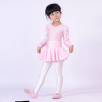Child long-sleeve dance clothes one-piece dress clothes leotard ballet skirt female child  kids Ballet Costume