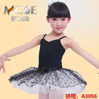 Child ballet skirt female child dance dress leotard costume dance clothes buckle performance wear  girl ballet skirt