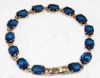 Blue crystal Link Clasp Bracelet