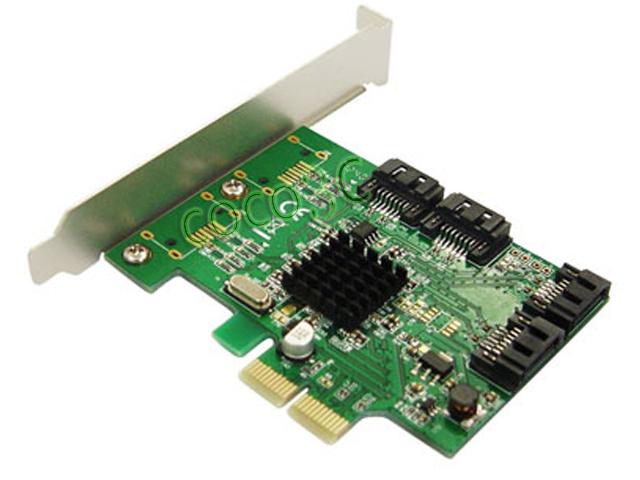 Marvell 88SE9215 Chipset 4 Ports SATA 6G PCI Express Controller Card PCI-e to SATA III 3.0 converter PCI low profile bracket(China (Mainland))