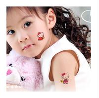 Free shipping 2014 cartoon tattoo stickers, waterproof children's body art, temporary toys, Hello Kitty