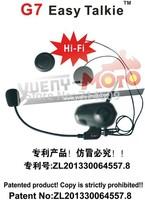2014 Updated! bluetooth helmet intercom BT  communication headset G7 with radios/single packing