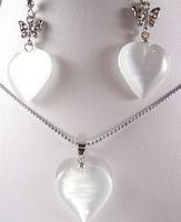 white opal pendants earrings