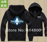 Free shipping New swords domain of God SAO Kazuto clothes Asuna zipper Sweater Jacket anime clothes