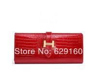 High-grade ladies purse, long leather wallet, Korean crocodile woman handbag