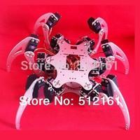 aluminum Metal 6Legs Hexapod 18-DOF Robot Spider Frame Kit Silver  for Arduino robot