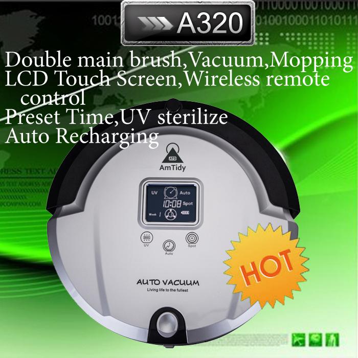 Коричневый цвет AmTidy робот пылесос, Жк-цифровой, Сенсорная кнопка, Рабочи