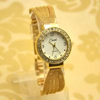 High Quality Luxury European Crystal bracelet Steel Watch Women Ladies Fashion Dress Quartz Wrist Watch GUS-8