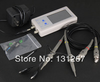 Free shipping D602 2-Channel Bandwidth 200KHz 1MSa / s Mini Oscilloscope 1KHz Square Wave Output 3.2'' TFT LCD Touch Panel