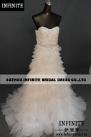 2014 INFINITE100% real sample  crystal beads  luxury wedding dresses