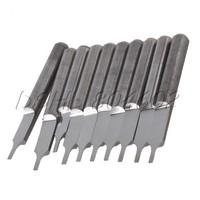 10Pcs 3.175 x 1mm Parallel Carbide CNC/PCB Milling Cutter Bits CEL 3mm