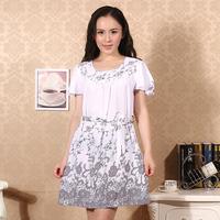 Women's summer loose 100% cotton nightgown mm sleepwear casual lounge fashion sleepwear