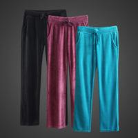 Spring and autumn velvet trousers yoga pants sports casual women's fashion plus size pants home health pants