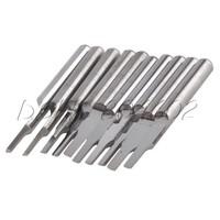 10Pcs 3.175 x 2mm Parallel Carbide CNC/PCB Milling Cutter Bits CEL 6mm