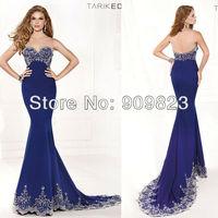 2014 New Designer Sweetheart Cap Sleeves Nice Beaded Pattern Mermaid Elegant Evening Gowns Dresses New 92324