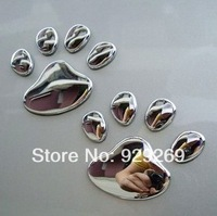 3D stereo car stickers Cool Bear dog paw footprints car stickers car stickers cover the scratches on decorative metal loading