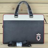 The new business computer bag shoulder diagonal documents man bag leather man bag boutique