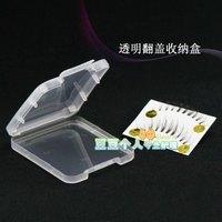 plastic small box with lid transparent clamshell eye shadow powder false eyelashes storage box