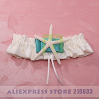 Free Shipping Retail Special Wedding Party Stuff Supplies Accessory Beach Theme Bridal Wedding Garters with Starfish