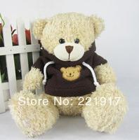 Bear plush toy doll stuffed teddy bear sweater dress stall toy bear birthday gift  15CM