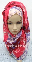 CJMR01wholesale free shipping latest design long bandanas muslim islamic hijab assorted colors in one dozen