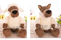 Super cute 1pc 35cm NICI home decoration plush cartoon wolf hold doll stuffed toy creative children baby gift