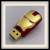 Hot ! new Cartoon Fashion Avengers Iron Man Metal usb flash drive 8GB 16GB USB 2.0 Flash Memory Stick Drive pen drive
