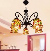 Tiffany lighting lamps fashion antique lamp restaurant lamp polycephalous pendant light colorful wafer cutout pendant light