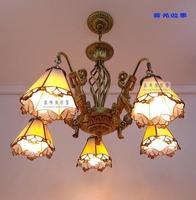 Fashion brief tiffany lighting mermaid pendant light bedroom quality 5 dining room pendant light