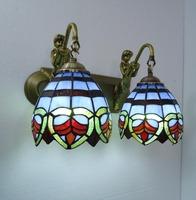 Tiffany lighting lamps modern brief fashion bathroom mirror light double slider wall lamp