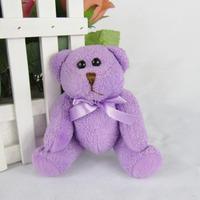 Wholesale plush teddy bear cartoon valentine bouquet Lavender Bear doll 10CM