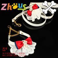 Pet quality dog collar set elegant lace bib pet necklace set high quality