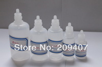 E-cigarette Wholesale Free shipping fedex,15ml 2500/lot clear PE bottle, plastic bottle, dropper bottle E-cigarette bottle