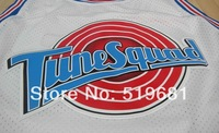 Free Shipping,2014 Chicago 23 Michael Tune Squad Jerseys White LOONEY TOONES  New Material Basketball jersey,Embroidery logos