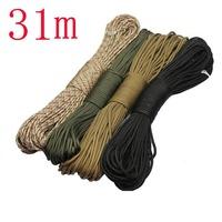 Survival 31-meter lifesaving rope for Outdoor sports climbing mountain parachute lanyard