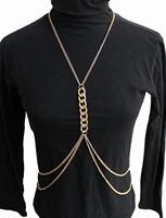 Original Design!Popular Fashion Women Sexy Gold Body Chain Choker Necklace Full Belly Belt Chain Jewelry (Minimum Order $10)B96