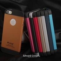 Gold Best Sell Hard case for iPhone 4 4s 4g 5 5S 5G Mobile Phone Bag hard Back Cover Luxury TPU Plastic 2 Styles 100pcs ca004