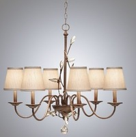 Girl american style crystal lamp wrought iron pendant light vintage bedroom brief pendant light