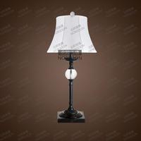 Fashion fabric floor lamp american style table lamp crystal wrought iron wedding lights