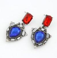 Min order is $10(mix order)Fashion brief  gem elegant stud earring heart square styles jewelry earrings women