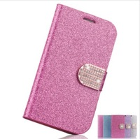 Free Shipping Deluxe Flip Wallet Card Bling Crystal Magnetic Stand Leather Cases Cover For Samsung Galaxy S5 i9600 Case Bag CS26
