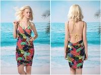 ON SALE! Sexy Hot Kaftan Beach Wear Swimwear Nylon Bikini Cover Up Summer Dress Leopard beach dress Free shipping 13 style