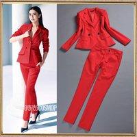 2014 spring women's fashion red suit professional set elegant taoku