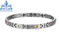 Lose Money Bracelet Stainless steel bracelet colorful Crystal Inlay Magnetic Bracelet healthy jewelry
